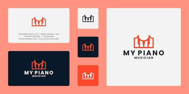 Creative idea my piano logo design
