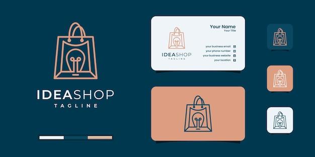 Creative idea shop logo design templates.