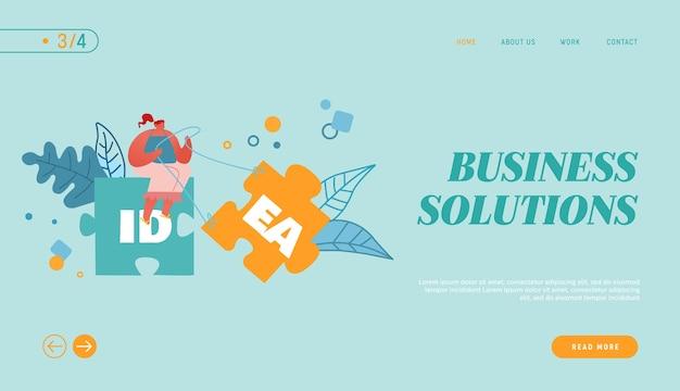 Creative idea website landing page.