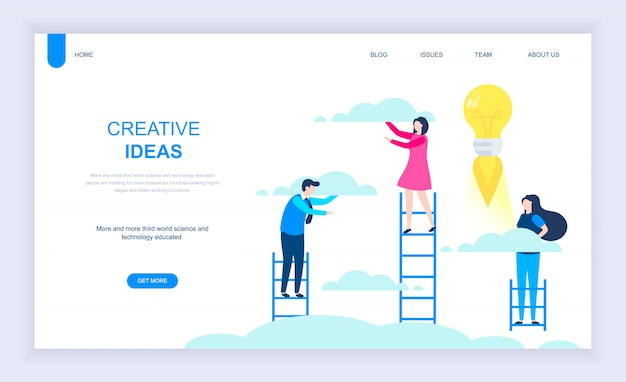 Современная плоская концепция дизайна creative idea