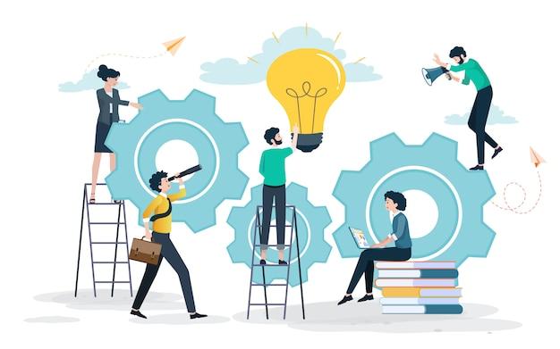 Creative ideas leading to success Premium Vector