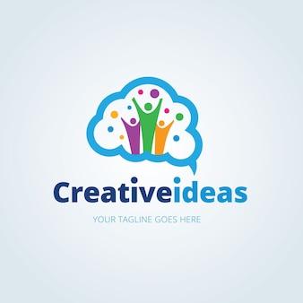 Шаблон логотипа творческих идей