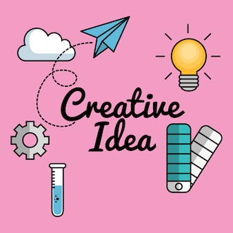 Creative ideas set elements