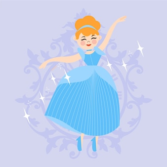 Creative illustration of cinderella princess