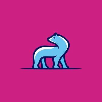 クリエイティブなイラストカラフルなクマの動物の野生動物のロゴデザインベクトルグラフィック文字テンプレート