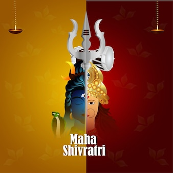 Creative illustration of lord shiva for mahashivratri