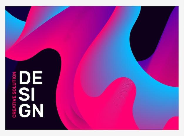 テキストによる明るいビジネスの抽象化の創造的なイラスト。抽象的な幾何学的な背景