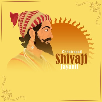 Creative illustration of shivaji maharaj jayanti
