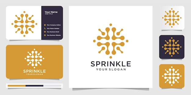 Creative illustration sprinkle logo template with business card.icon for business.