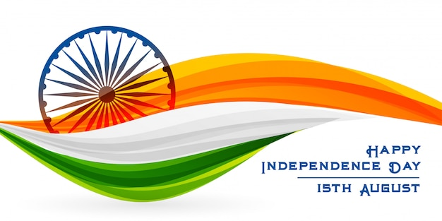 Creative indian flag happy independence day design