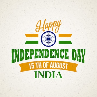 Creative indian independence day concept.