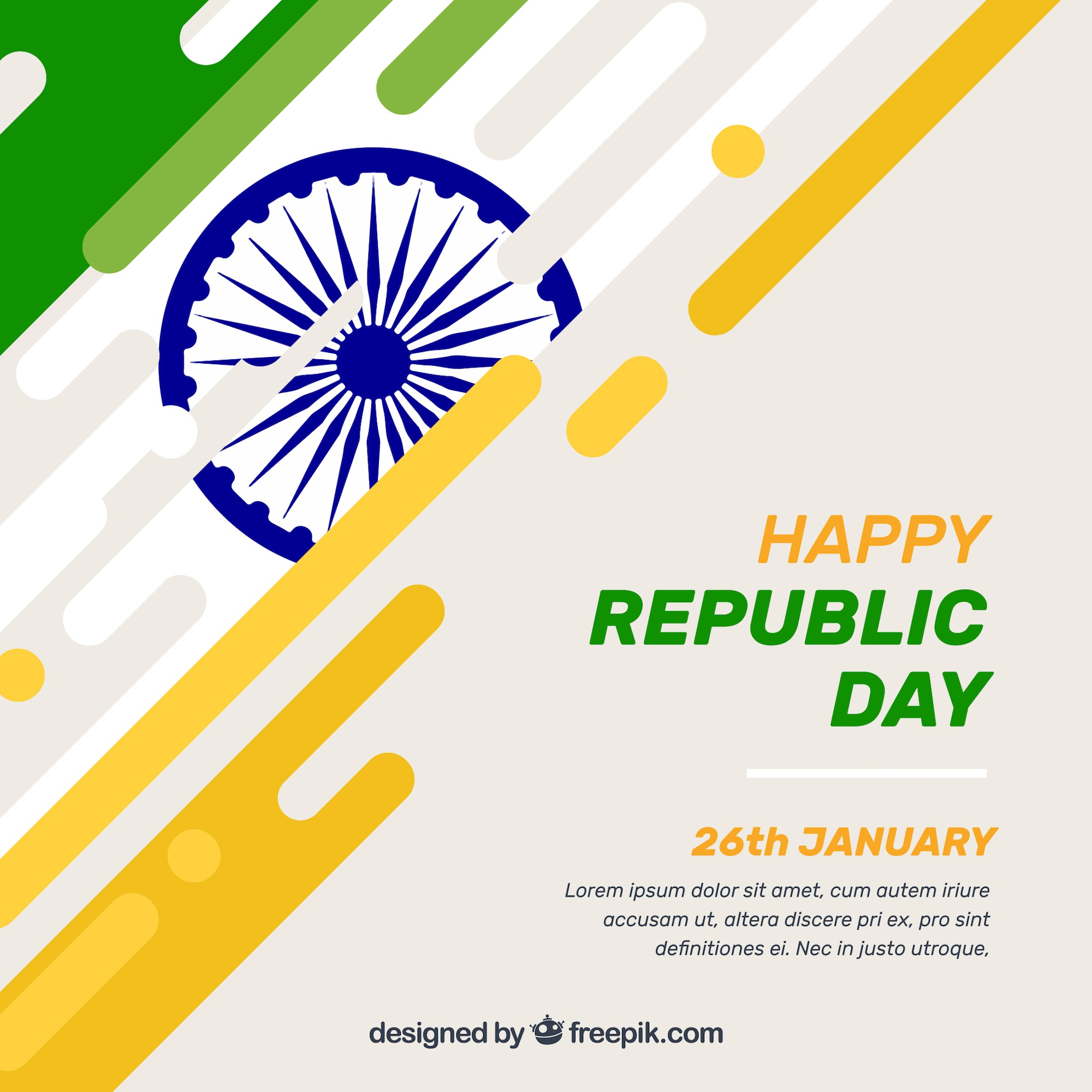 Creative indian republic day background