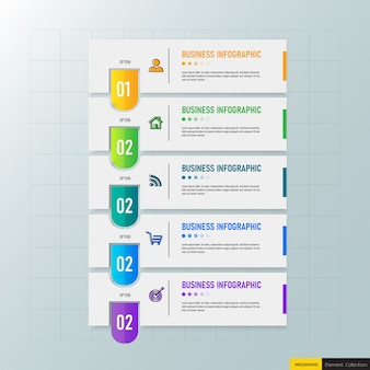 Шаблон креативной инфографики 5 шагов