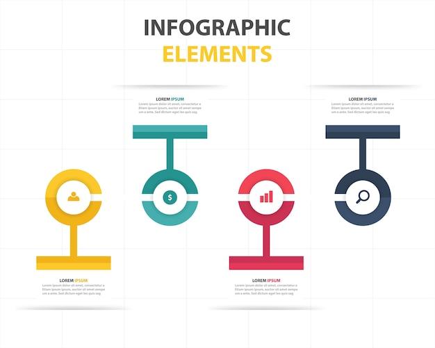 クリエイティブインフォグラフィックビジネステンプレート
