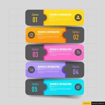 크리 에이 티브 infographic 5 단계 템플릿