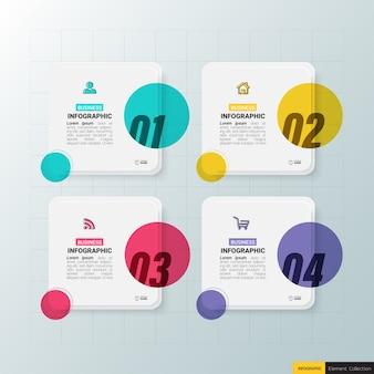 Creative infographic four steps template