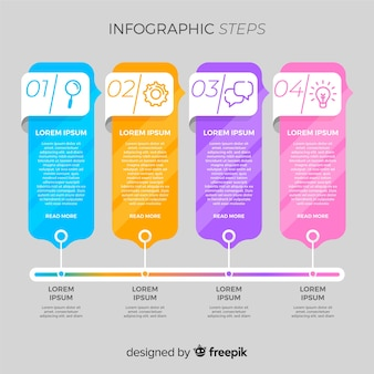 Creative infographic steps concept