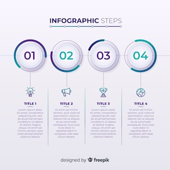 Creative infographic steps design