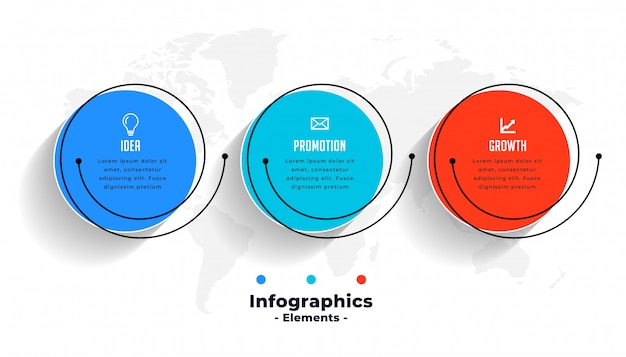 Creative infographics for business data visualization