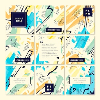 Creative instagram puzzle feed template