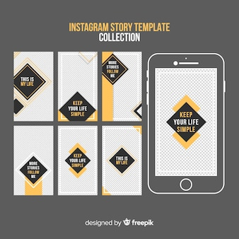 Creative instagram stories template collection