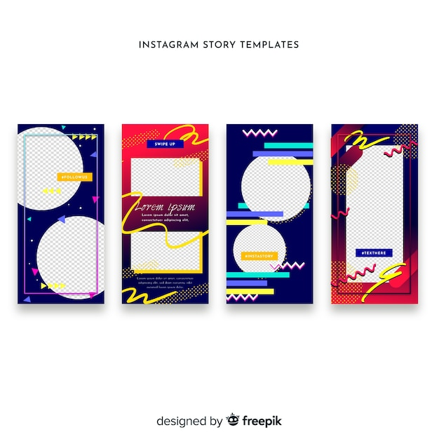 Free Creative instagram stories template SVG DXF EPS PNG
