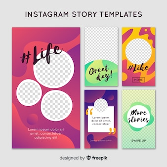 Creative instagram stories template