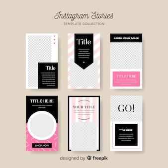 Creative instagram story template collection