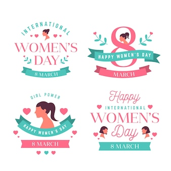 Creative international women's day labels