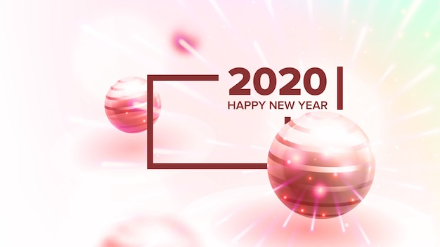Creative invitation card celebrating 2020
