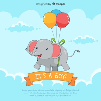 Creative its a boy baby shower template