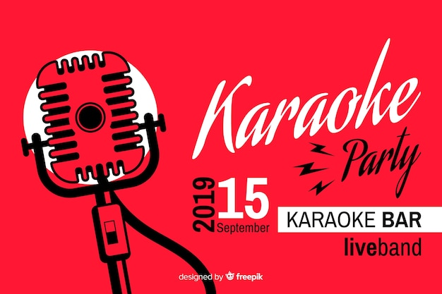 Creative karaoke party banner template