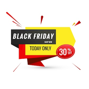 Creative lable for black friday banner