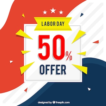 Creative labor day sale background