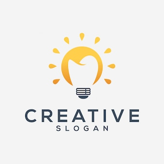 Creative lamp and dental logo template