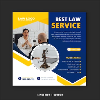 Creative law firm social media template and instagram banner
