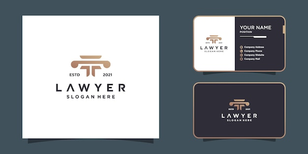 Creative lawyer logo design for great company premium vector