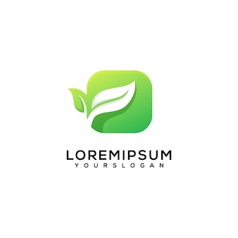 Creative leaves in the box logo design