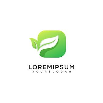 Креативные листья в коробке с логотипом