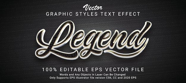 Creative legend metallic text style effect