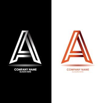 創造的な手紙aロゴデザインベクトルテンプレート。
