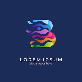 Creative letter b colorful gradient logo