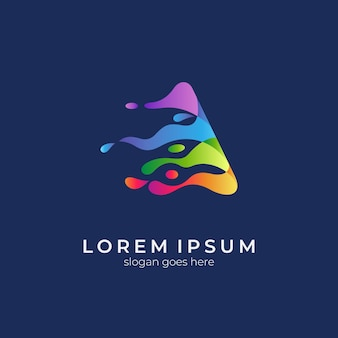 Creative letter a colorful gradient logo