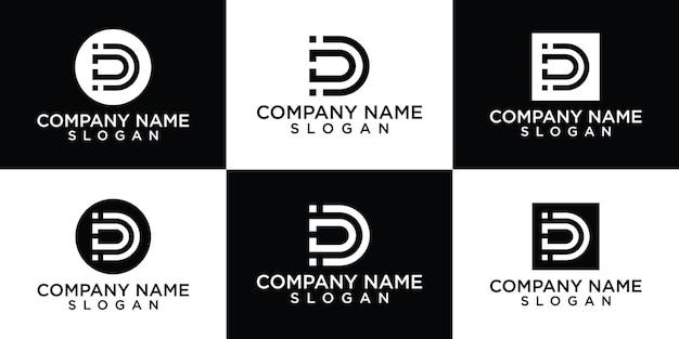Creative letter d logo design collection
