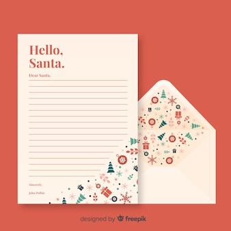 Creative letter and envelope concept for christmas