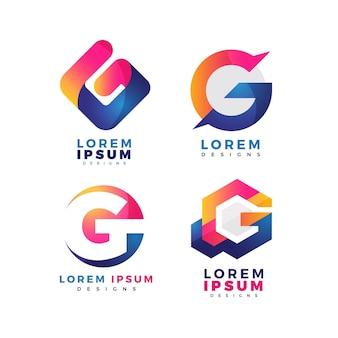 Creative letter g logo templates