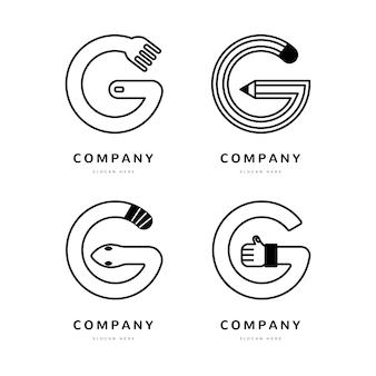 Креативные шаблоны логотипа буква g