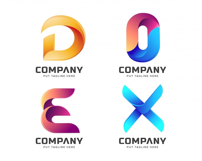 Creative letter initial logo collection