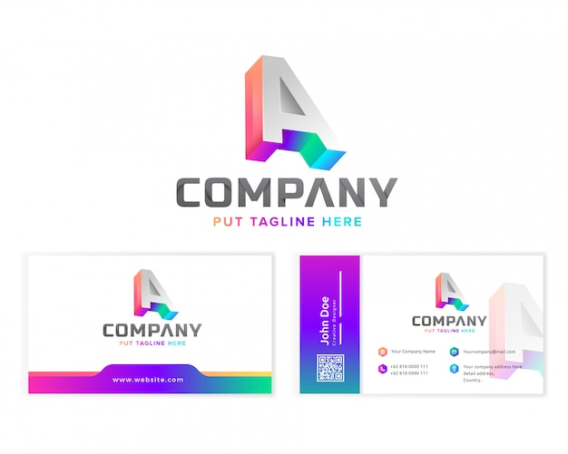 Creative letter a logo for company