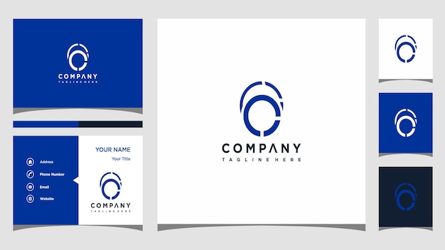 Creative letter o logo concept and business card premium premium vector